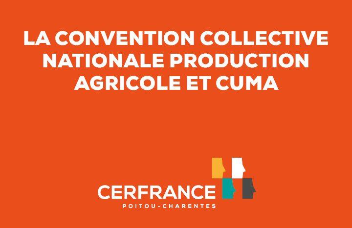 convention collective nationale production agricole et cuma